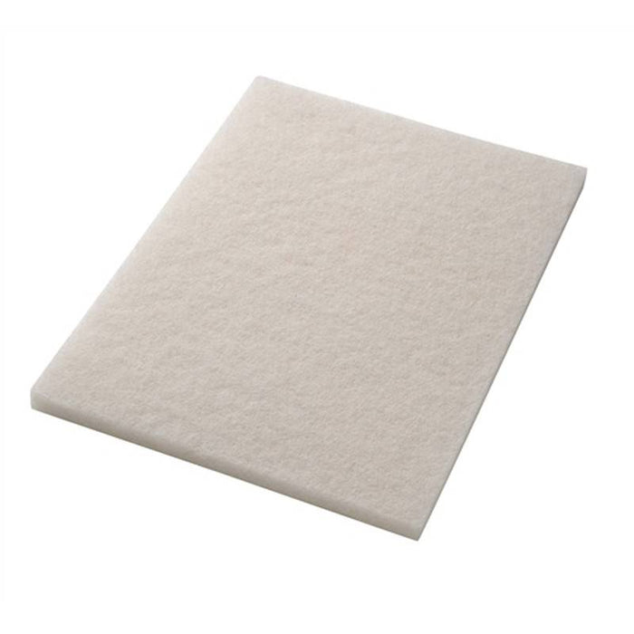 "Americo 14"" x 20"" White Super Polishing Floor Pads (Pack of 5)"