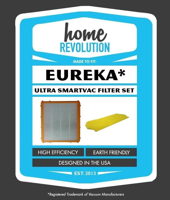 Eureka Ultra Smartvac Part # 61111, 61111A, 61111B, 61111C and 70082 for Eureka 4800 Series, Comparable Upright Vacuum Filters. A Home Revolution Brand Quality Aftermarket Replacement