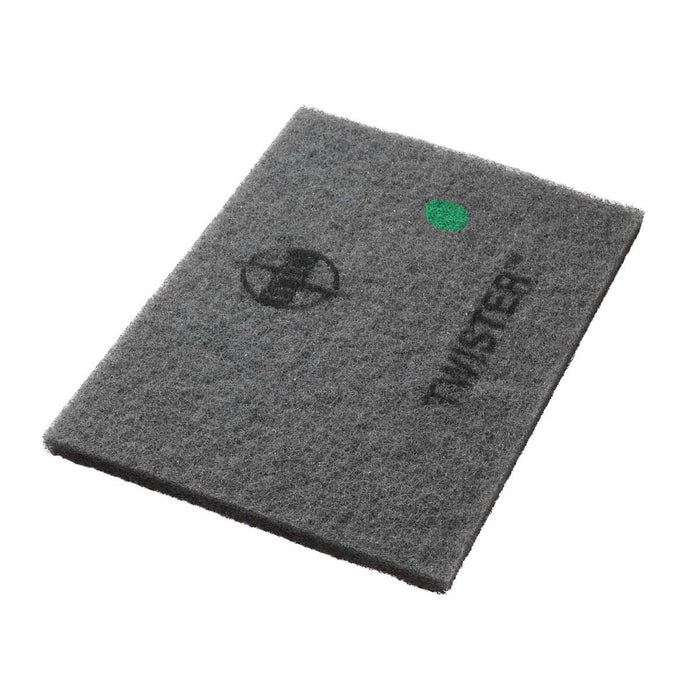 "Americo Twister Rectangular Green Floor Pads  - 14"" x 20"" (Pack of 2)"