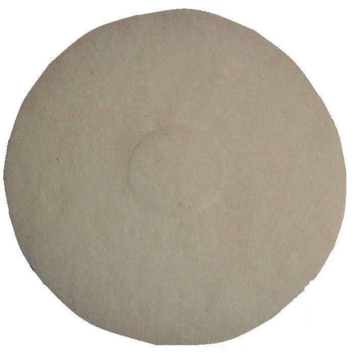"Bissell 12"" White Polish Pad, 5 Pads"