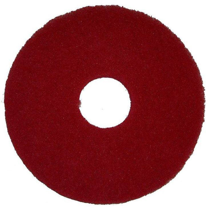 "Bissell 12"" Red Polish Pad, 5 Pads"