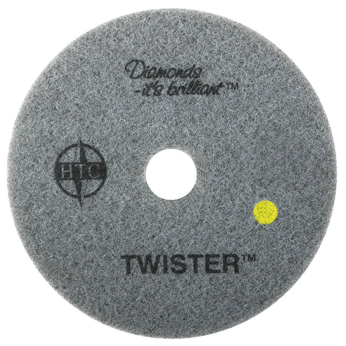 "Americo Twister Yellow Floor Pads  - 8"" (Pack of 2)"