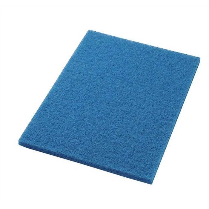 "Americo 14"" x 28"" Blue Cleaner Floor Pads (Pack of 5)"