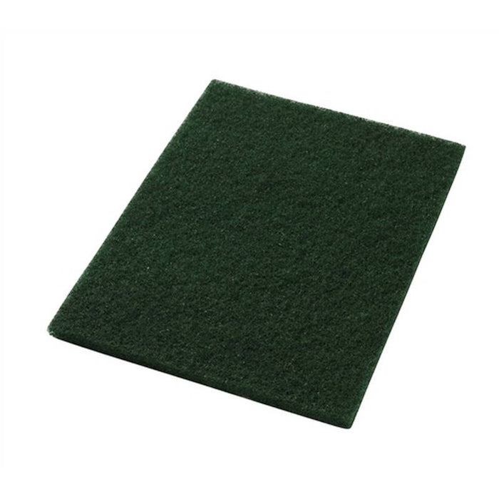 "Americo 12"" x 18"" Green Scrub Floor Pads (Pack of 5)"