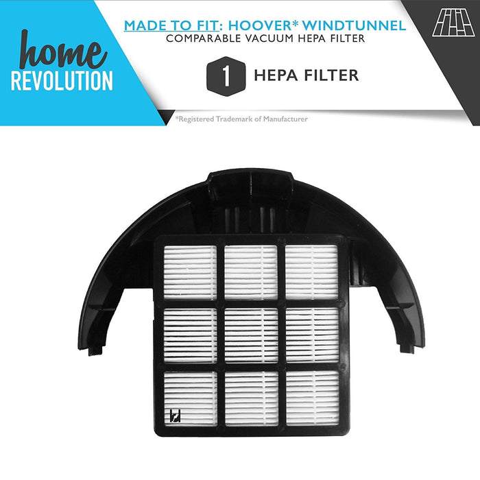 Hoover Windtunnel Part # 303172001, 303172002 for Windtunnel T-Series, Rewind, Pet Rewind Series, Comparable T-Series Rewind HEPA Filter. A Home Revolution Brand Quality Aftermarket Replacement