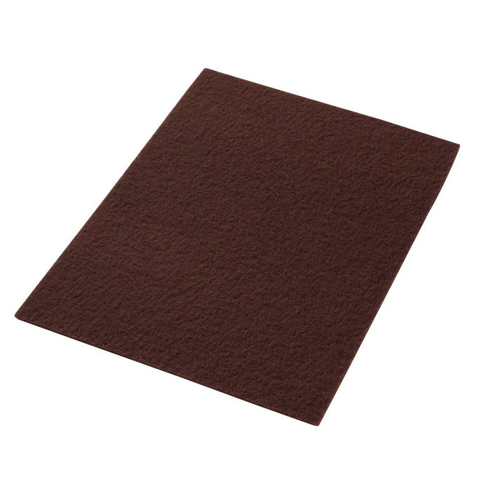 "Americo Maroon EcoPrep Chemical Free Stripping Floor Pads - 14"" x 20"" (Pack of 10)"