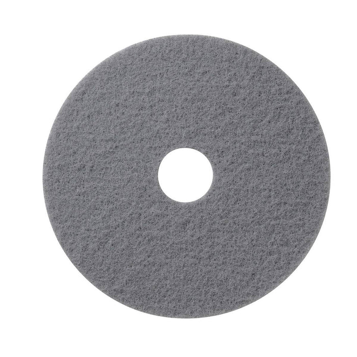 "Americo Gray Marble Compound/Conditioning Floor Pads - 14"" (Pack of 5)"