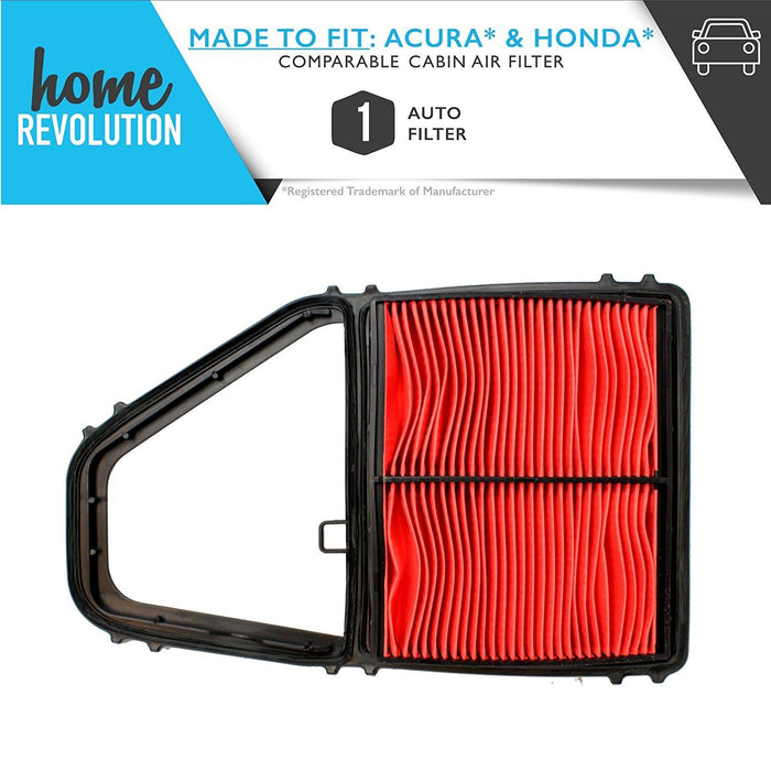 Cabin Air Panel Filter Compare to A35397 & CA8911; Home Revolution Brand Replacement Made to Fit Acura EL Canada & Honda Civic