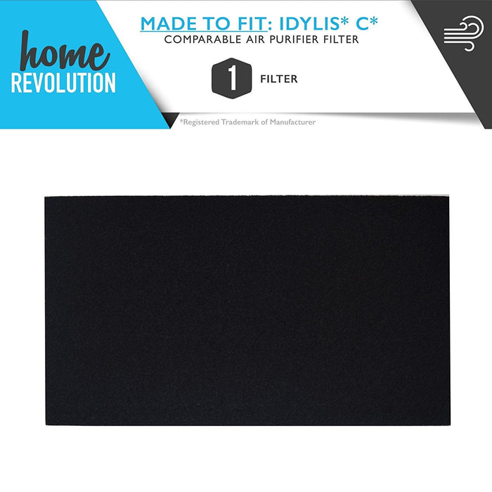 Idylis C Part # 302656 for IAF-H-100C for Idylis Air Purifiers IAP-10-200 and IAP-10-280 Models, Comparable C Carbon Filter. A Home Revolution Brand Quality Aftermarket Replacement
