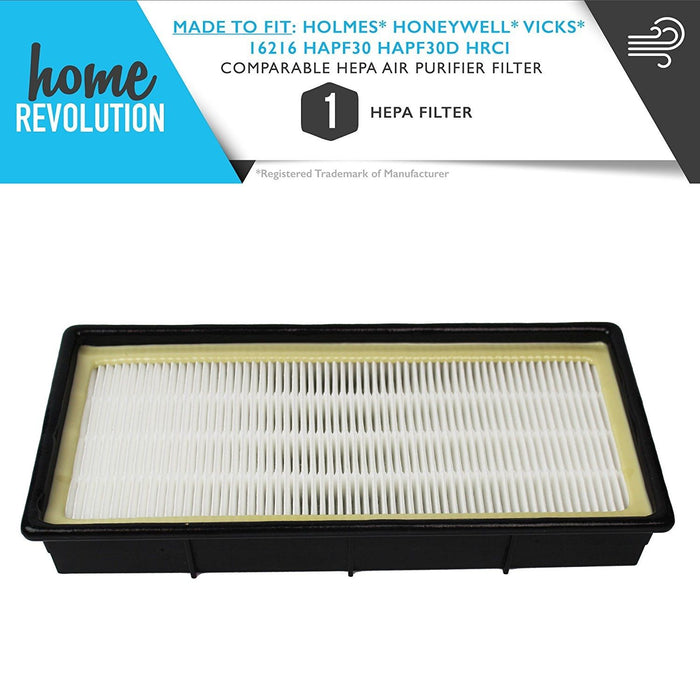 Holmes, Honeywell, Vicks Part # 16216, HAPF30 and HAPF30D for Holmes, HoneyWell, VICKS Series Models, Comparable HEPA Air Purifier Filter. A Home Revolution Brand Quality Aftermarket Replacement