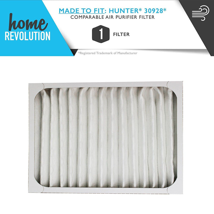 Hunter Part #30928 for Hunter 30057, 30059, 30067, 30078, 30079, 30124, 30097, 30124 and 30126 Models, Comparable Style Air Purifier Filter. A Home Revolution Brand Quality Aftermarket Replacement