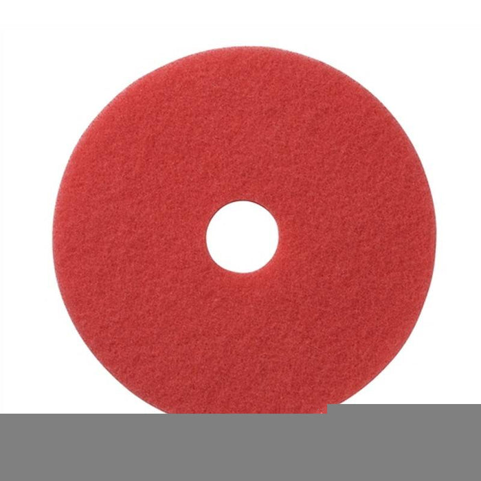 "Americo 14"" Red Buffing Floor Pads (Pack of 5)"