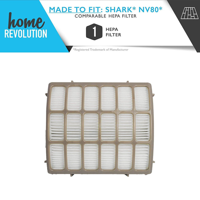 Shark NV80 Part # XHF80 for Shark Navigator Professional Model NV80, Comparable HEPA Filter. A Home Revolution Brand Quality Aftermarket Replacement