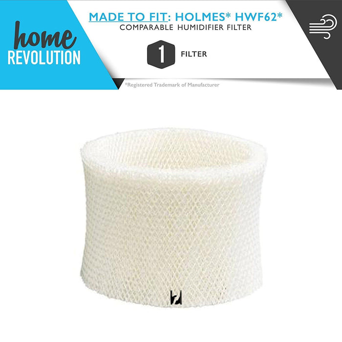 Holmes and Honeywell HM and HCM Wick Filter for Holmes HWF62, Comparable Humidifier Filter. A Home Revolution Brand Quality Aftermarket Replacement