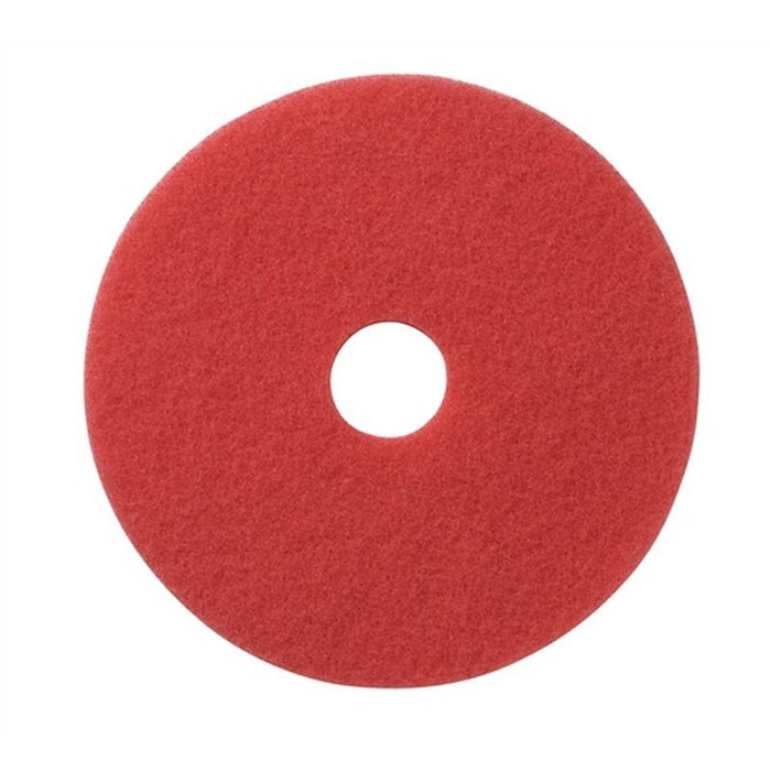 "Americo 16"" Red Buffing Floor Pads (Pack of 5)"