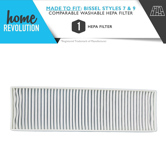 Bissell Style 7/9 Part # 32076 for Bissell Cleanview, PowerForce, PowerGlide, Total Floors, Comparable Washable HEPA Filter. A Home Revolution Brand Quality Aftermarket Replacement