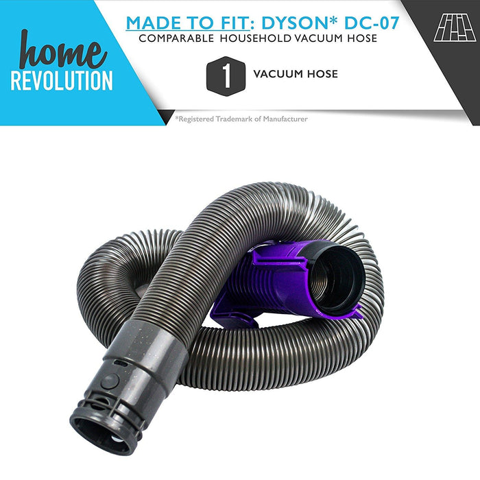 Dyson DC07 Part # 90412515, 90412517, 90412519 and 90412551 for DC-07 and DC-07 All Floors model, Comparable Household Vacuum Hoses. A Home Revolution Brand Quality Aftermarket Replacement