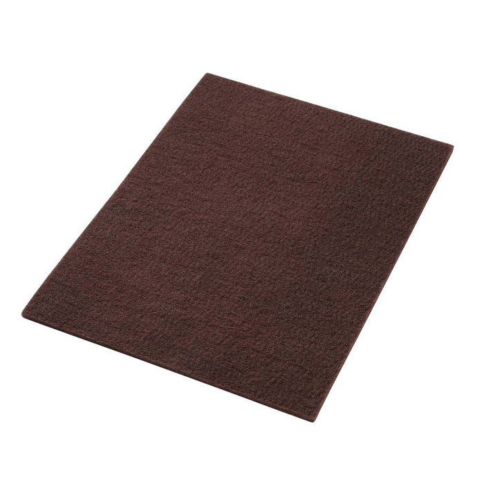 "Americo 14"" x 32"" Maroon Conditioning/Stripping Thin Line Floor Pads (Pack of 10)"