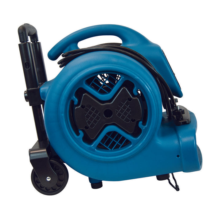 XPower P-630HC 1/2 HP Air Mover with Telescopic Handle & Wheels & Carpet Clamp
