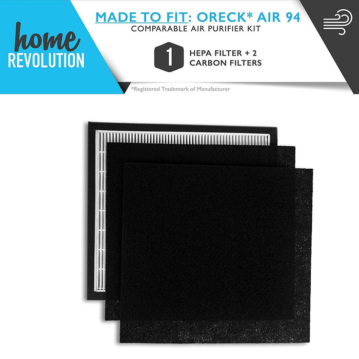 Oreck OptiMax Part #835673 for Oreck Air 94 Model, Comparable Automotive Air Purifier Filter Kit. A Home Revolution Brand Quality Aftermarket Replacement