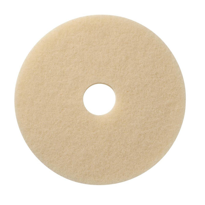 "Americo Creme Marble Polishing Floor Pads - 19"" (Pack of 5)"