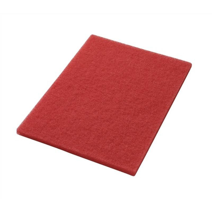 "Americo 14"" x 32"" Red Buffing Floor Pads (Pack of 5)"