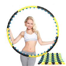 Load image into Gallery viewer, Detachable 7/8 Parts Double Row Magnetic Fitness Hoop Easy To Install Fitness Massage Exercise Workout Sport