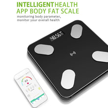 Load image into Gallery viewer, Digital Body Weight Machine Smart Body Fat Scale Monitor Bathroom Scales Measuring Scale bluetooth charging / battery type