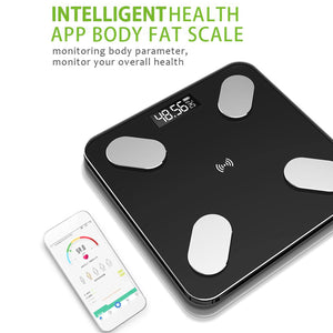 Digital Body Weight Machine Smart Body Fat Scale Monitor Bathroom Scales Measuring Scale bluetooth charging / battery type