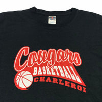 Vintage Cougars Basketball T Shirt