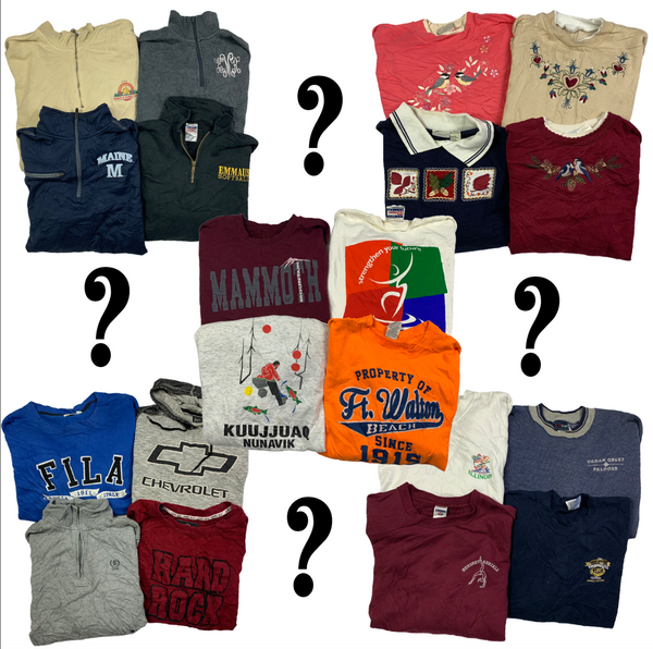 Wholesale Vintage USA Sweatshirt Mystery Box (20 Pieces)