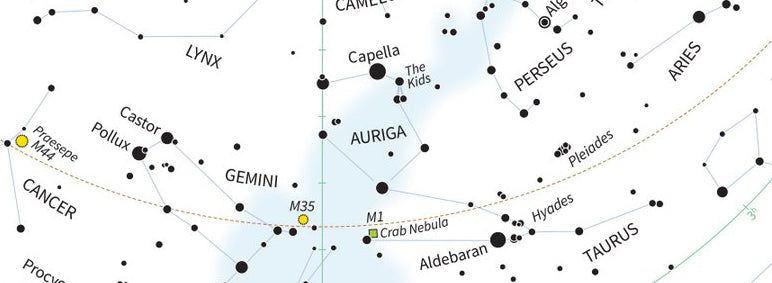 Auriga Constellation: Visit the Galactic Anticenter!