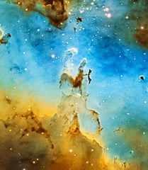 Detail of Chuck Ayoub's Pillars of Creation with his Explore Scientific ED127 Essential Series Air-Spaced Triplet