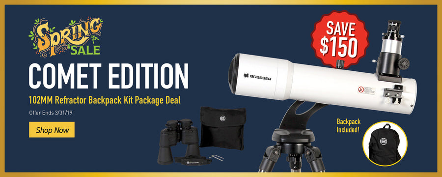 Comet Edition - Save $150 - 102M Refractor Backpack Kit Package Deal