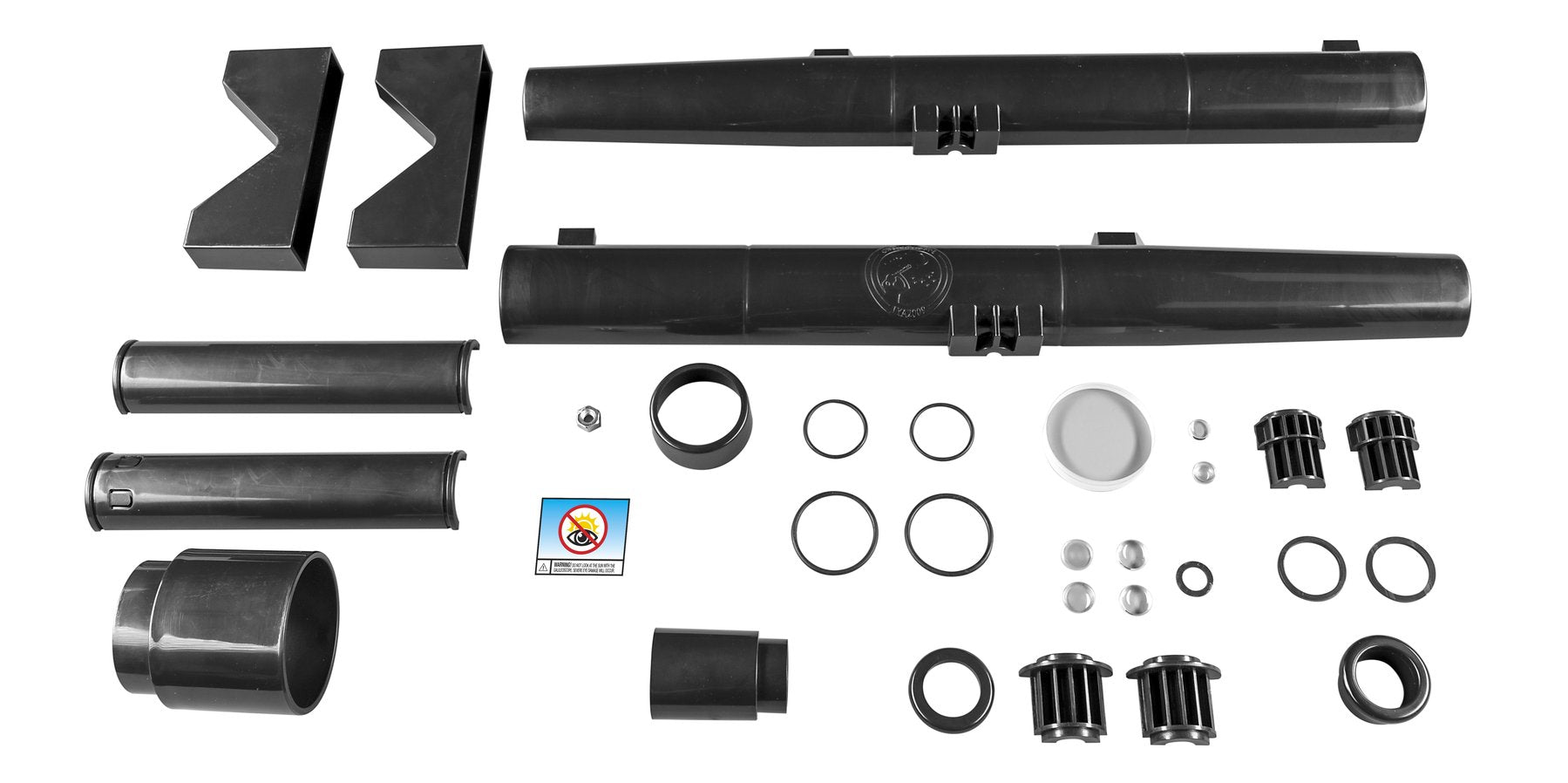 The Galileoscope Kit includes everything you need to build your own refracting telescope.