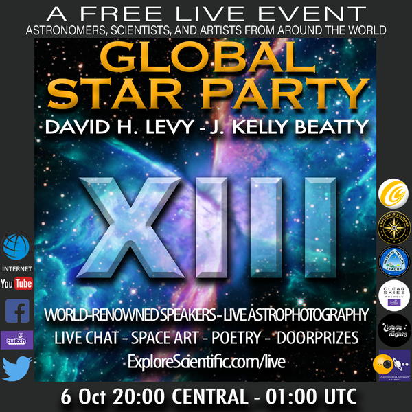 Explore Alliance Live Present the Global Star Party XIII
