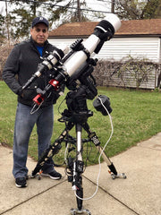 Chuck Ayoub with his Explore Scientific ED127 Essential Series Rig for Astrophotography