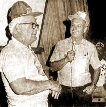 Cliff Holmes with Walter Scott Houston at the 1983 RTMC