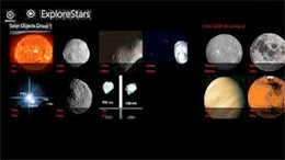 ExploreStars Object Menu