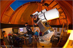 Jack Newton Teaching Astrophotography at his Observatory. Image by: Robert Burdan