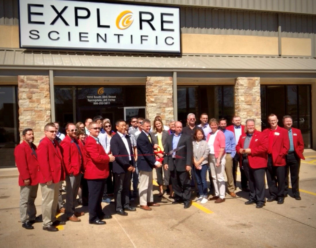 Explore Scientific at the Ribbon-Cutting Ceremony of the New Facility in Springdale Arkansas