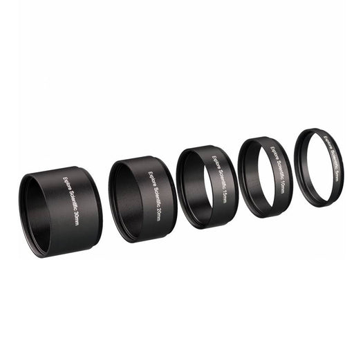 Explore Scientific Extension Ring Set M48x0.75 - 5 pieces (30, 20, 15, 10 and 5 mm)