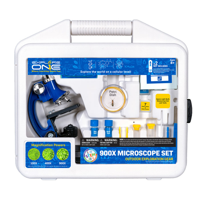 Explore One 45 Piece 900X Microscope Set with Case