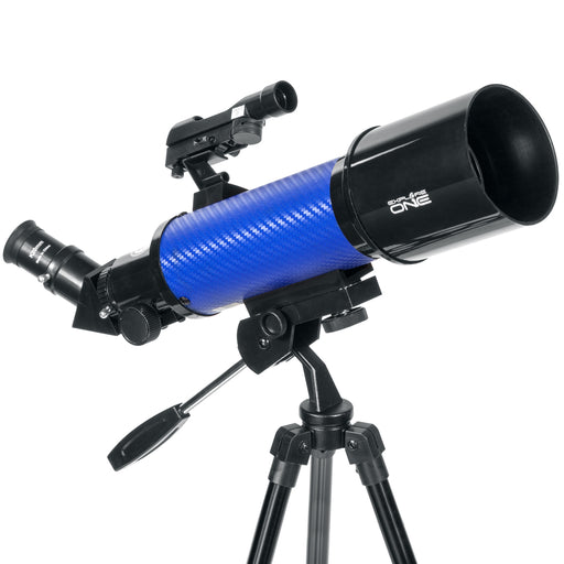 ExploreOne CF400 Blue Carbon Fiber Wrap 70mm Pan Handle AZ Mount Telescope