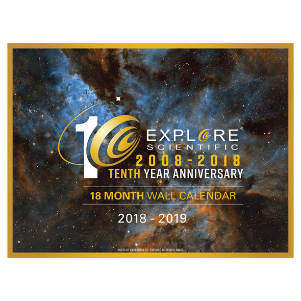 Explore Scientific 18-Month Wall Calendar (2018-2019)