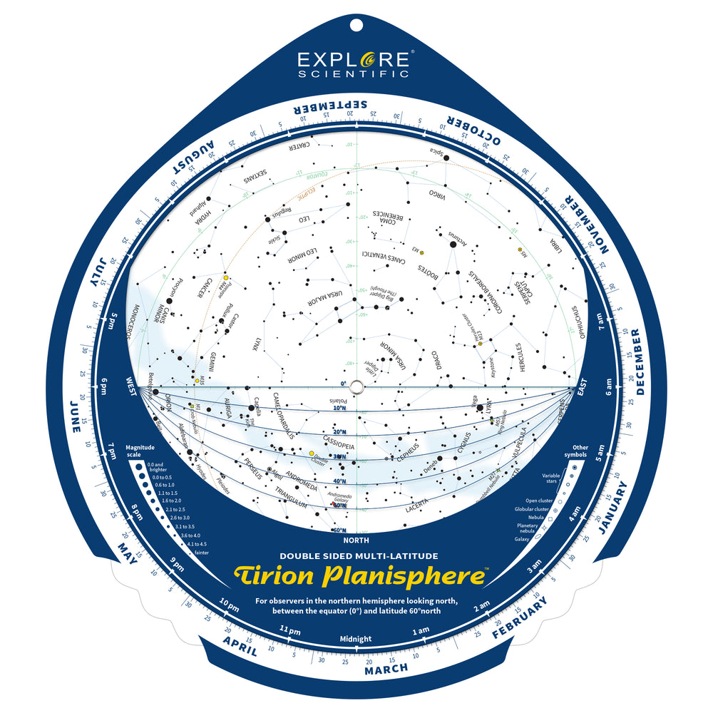 Tirion Double-Sided Multi-Latitude Planisphere