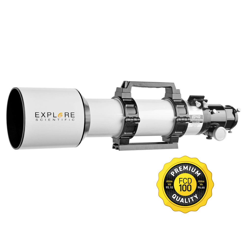 Explore Scientific ED102-FCD100 Series Air-Spaced Triplet Refractor Telescope - FCD100-10207-01