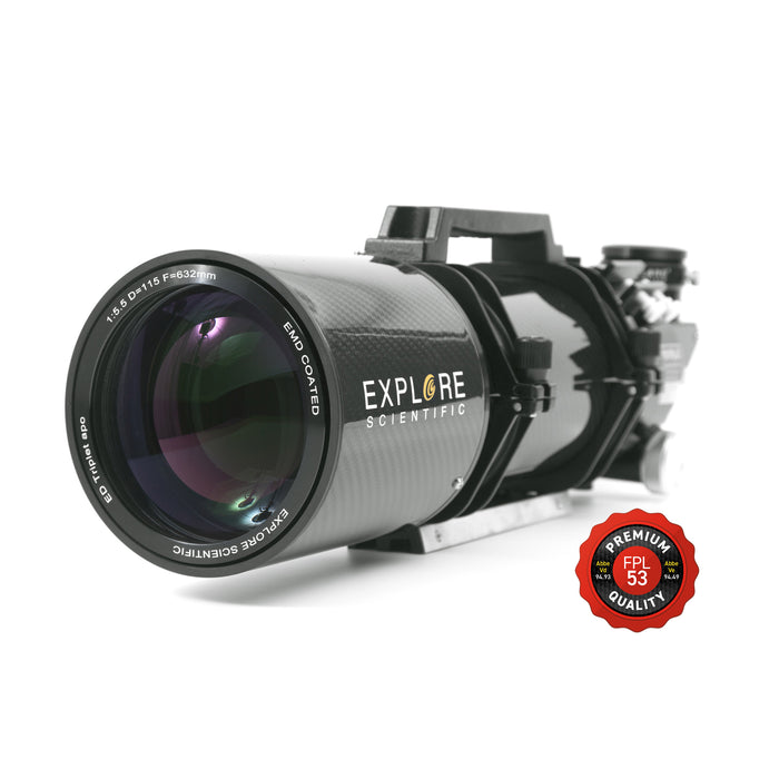 "ED115 FPL53 115mm f/5.5 Air-Spaced Triplet ED APO Refractor in Carbon Fiber with 3"" HEX Focuser"