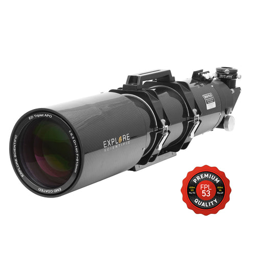 "Refurbished Second Light ED140 FPL53 140mm f/6.5 Air-Spaced Triplet ED APO Refractor in Carbon Fiber with 3"" HEX Focuser"