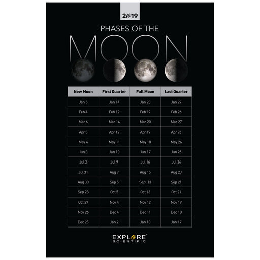 Moon Phases 2018-2019 (11x17)